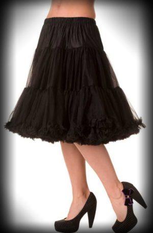 Petticoat lang Rockabella – schwarz von Rockabilly Rules