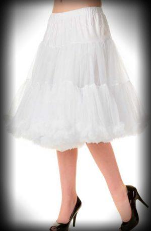 Petticoat lang Rockabella – weiß von Rockabilly Rules