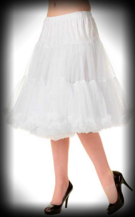 Petticoat lang Rockabella - weiß von Rockabilly Rules