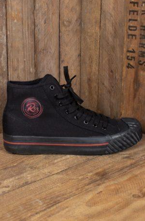 Rumble59 – Burnout-Sneaker – schwarz/schwarz von Rockabilly Rules