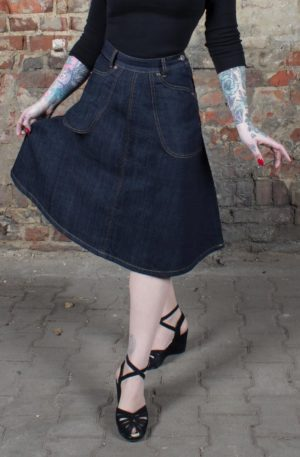 Rumble59 Ladies Denim – Jeansrock Rocking Rosie von Rockabilly Rules