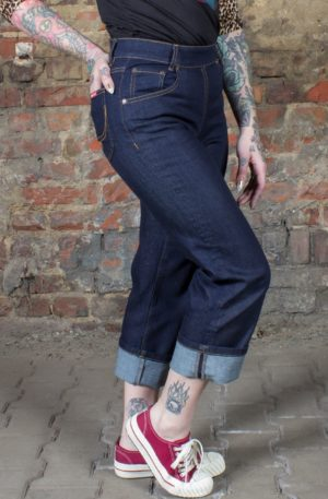 Rumble59 Ladies Denim – Pedal Pusher von Rockabilly Rules