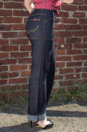 Rumble59 Ladies Denim – Restless Rosie – Worker Jeans von Rockabilly Rules