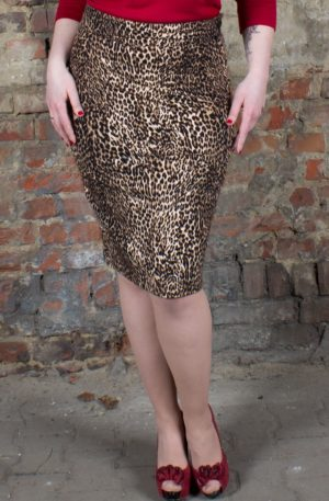 Rumble59 Ladies – Leo Pencil Skirt – The wild one von Rockabilly Rules