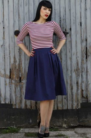 Rumble59 Ladies – Sailor Swingkleid – All hands on deck! von Rockabilly Rules