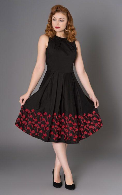 Sheen Clothing Blumen Kleid Kirsty von Rockabilly Rules