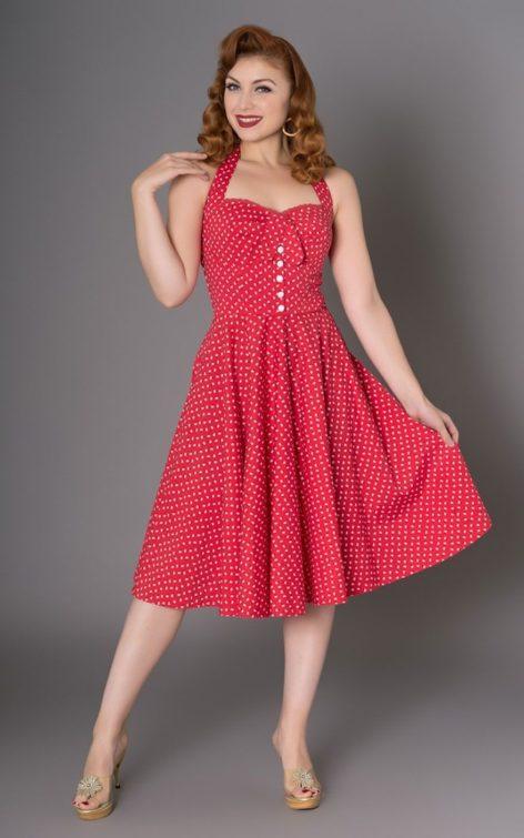 Sheen Clothing Blumen Kleid Xandria von Rockabilly Rules