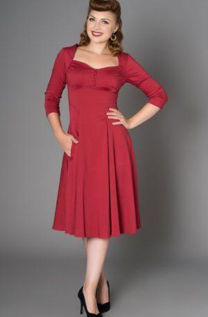 Sheen Clothing Kleid Nanette, rot von Rockabilly Rules