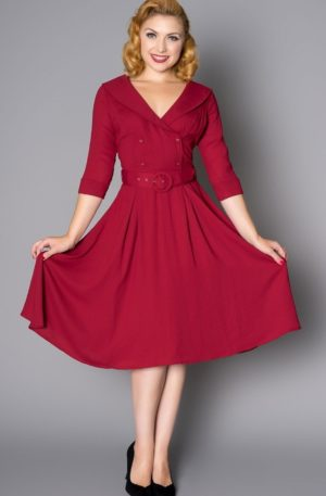 Sheen Clothing Kleid Rosie, rot von Rockabilly Rules