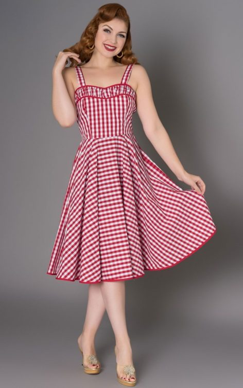 Sheen Clothing Sommer Kleid Angie Vichy von Rockabilly Rules