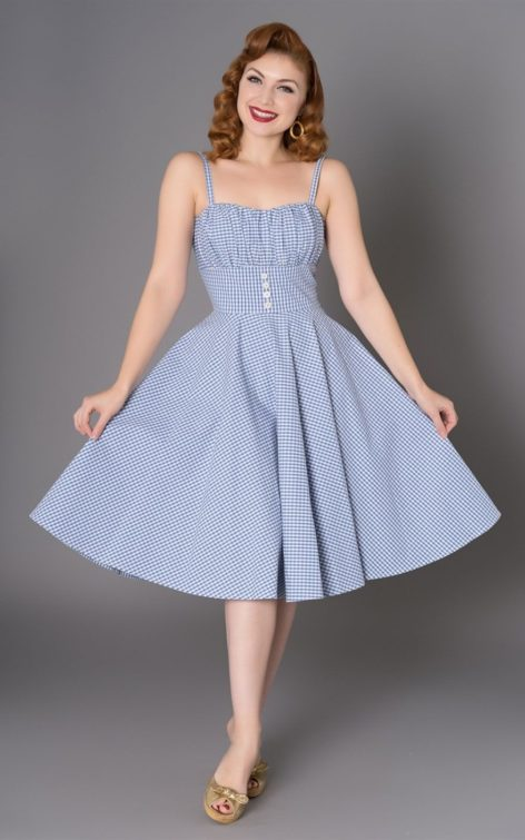Sheen Clothing Sommer Kleid Melissendre Vichy von Rockabilly Rules