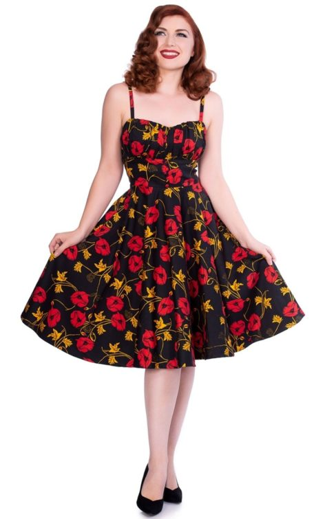 Sheen Clothing Swing Kleid Flower Power Lexie von Rockabilly Rules