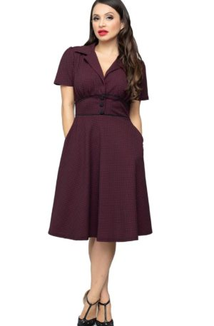 Steady Dinerkleid | Houndstooth Dress Katherine von Rockabilly Rules