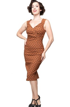Steady Pencil Skirt Kleid Polkadot Diva Dress von Rockabilly Rules