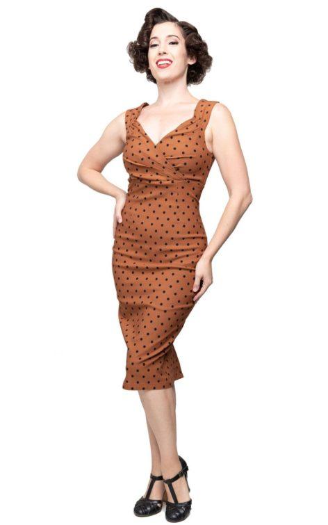 Steady Pencil Skirt Kleid Polkadot Diva Dress von Rockabilly Rules
