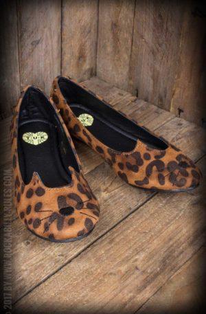 TUK Leopard Sophistakitty Flat Ballerina von Rockabilly Rules
