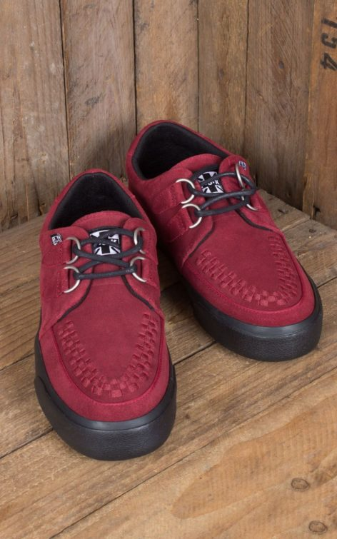 TUK VLK Creeper Sneaker 2Ring, red Suede von Rockabilly Rules