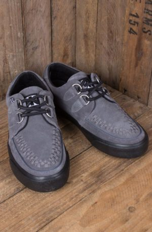 TUK VLK D Ring Creeper Sneaker, Grey Suede von Rockabilly Rules