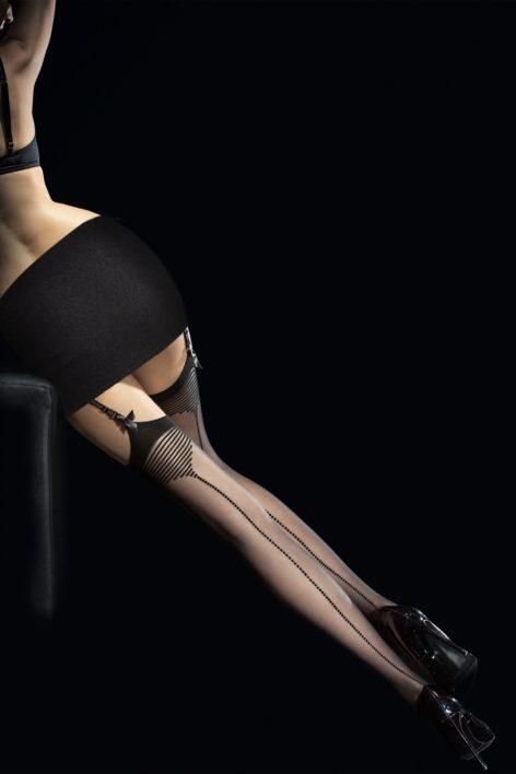 Tempesta Seamed Stockings in Black