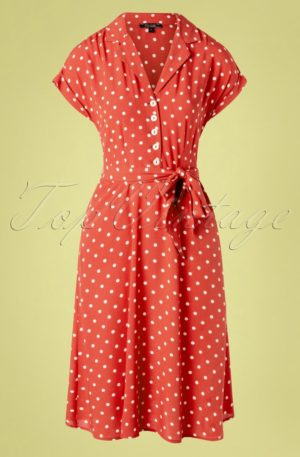 40s Darcy Pablo Dress in Apple Pink