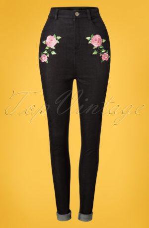 50s Becca Rose Jeans in Black
