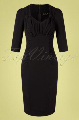 50s Camilla Pencil Dress in Black