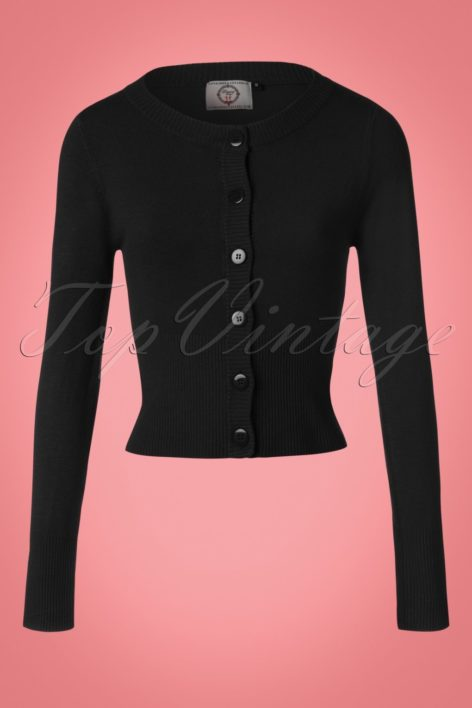 50s Dolly Cardigan in Black