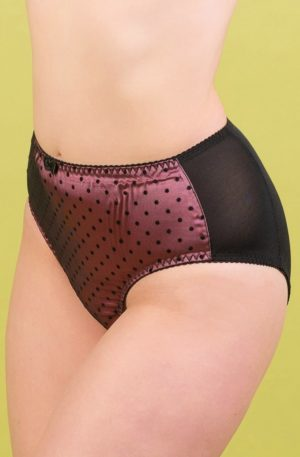 50s Dot High Waist Knickers in Dusky Rose