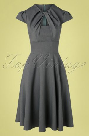 50s Geneva Swing Dress in Grey