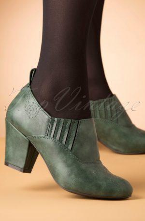 50s Howdy Shoe Bootie in Green