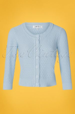 50s Jennie Cardigan in Light Blue