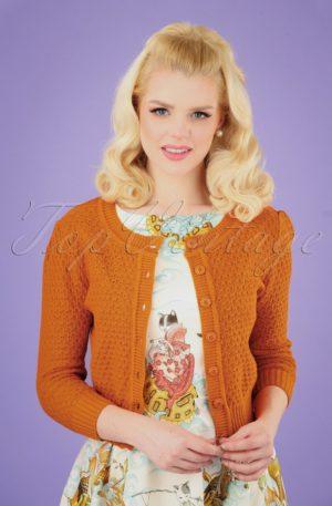 50s Jennie Cardigan in Light Orange