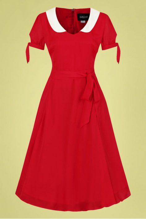 50s Mirella Swing Dress in Red