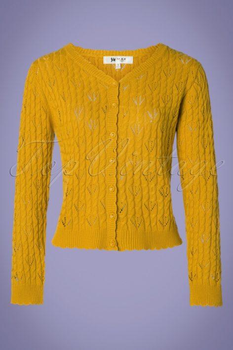 60s Claudia Cardigan in Honey