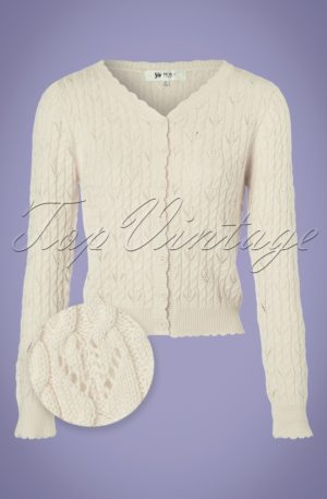 60s Claudia Cardigan in Ivory