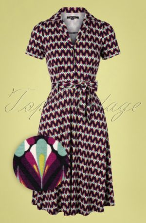 60s Sheeva Namaste Dress in Vivid Purple