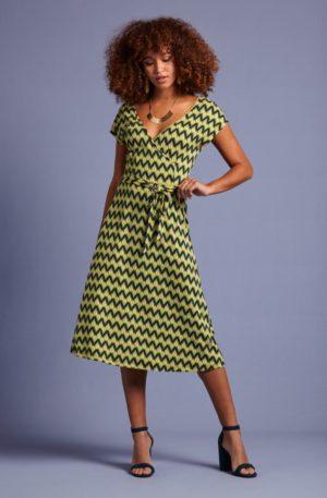 70s Mira Namaste Dress in Spar Green