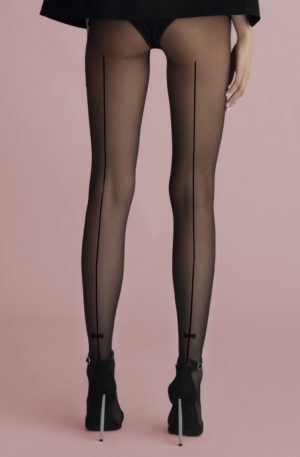 Christy Backseam Tights in Black