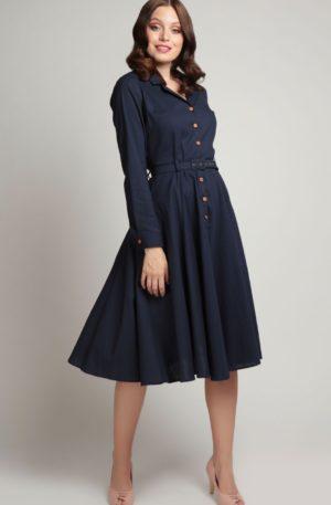 Collectif 40's Vintage Langarm Swing Kleid Caterina von Rockabilly Rules