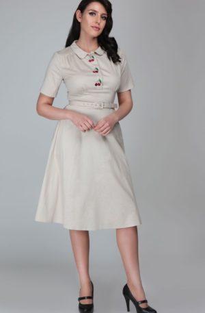 Collectif Classic Swing Dress | Swingkleid Doriane Cherry von Rockabilly Rules