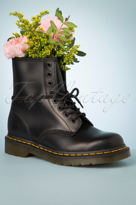1460 Smooth Ankle Boots in Black