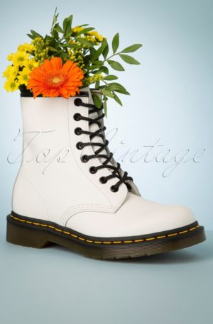 1460 Smooth Ankle Boots in White