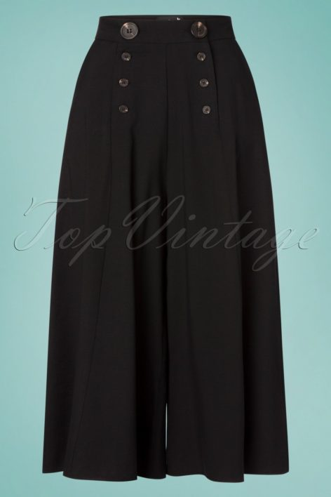 30s Murphy Culottes in Black
