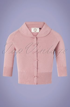 40s April Bow Cardigan in Lilac