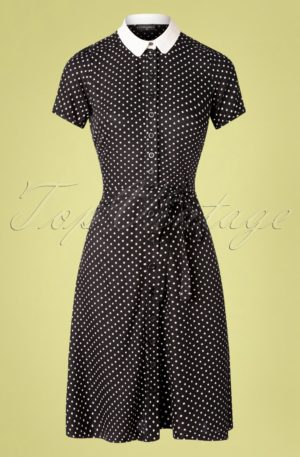 40s Italian Dress in Black