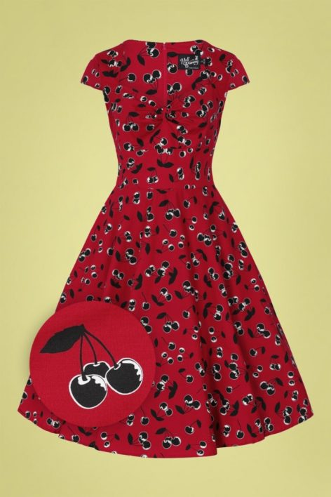 50s Alison Swing Dress in Red