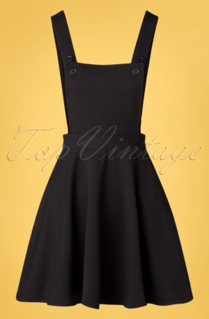 50s Amelie Pinafore Dress in Black