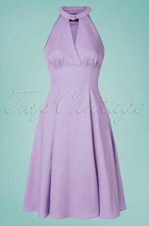 50s Candela Swing Dress in Lavender