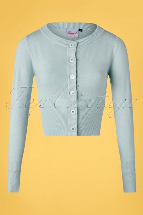 50s Dolly Cardigan in Light Blue