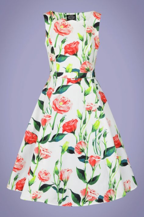50s Edina Rose Swing Dress in Ivory